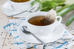 Fresh made Fennel Tea. (macro shot Royalty Free Stock Photography
