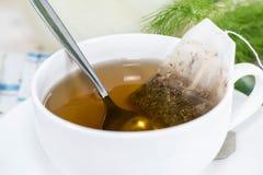Fresh made Fennel Tea. (macro shot Royalty Free Stock Photos