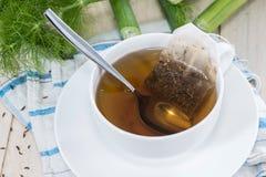 Fresh made Fennel Tea. (macro shot Royalty Free Stock Image