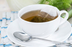 Fresh made Fennel Tea. (macro shot Royalty Free Stock Photo