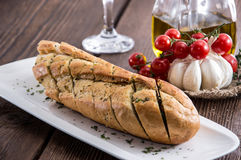 Fresh made Garlic Bread Royalty Free Stock Photo