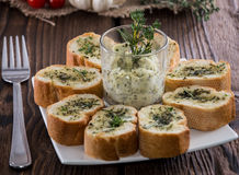 Fresh made Garlic Bread Stock Images