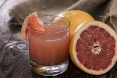 Fresh made Grapefruit Juice Stock Images