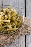 Fresh made Green Beans salad Stock Photo