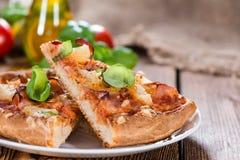 Fresh made Hawaiian Pizza (slices) Royalty Free Stock Photos