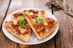 Fresh made Hawaiian Pizza (slices) Royalty Free Stock Photography