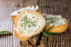 Fresh made Herb Butter Baguettes Royalty Free Stock Photos