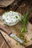 Fresh made Herb Curd Stock Photo