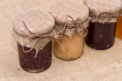 Fresh made Jam in jars Stock Images