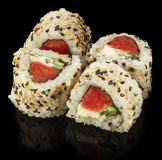 Fresh made Japanese sushi rolls with tuna Royalty Free Stock Photography