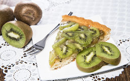 Fresh made Kiwi Tart Stock Photos