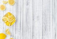Fresh made Lemon Slices royalty free stock photo