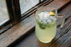 Fresh made lemonade with mint Stock Photos
