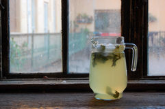 Fresh made lemonade with mint Stock Photo