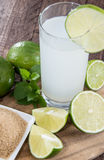 Fresh made Lime Juice Stock Photo