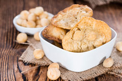 Fresh Made Macadamia Cookies Stock Images