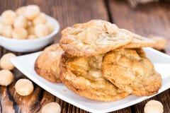 Fresh made Macadamia Cookies Stock Photo