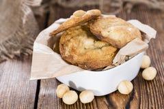 Fresh made Macadamia Cookies Stock Photos