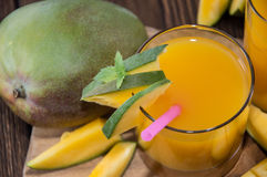 Fresh made Mango Juice Royalty Free Stock Photo