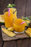Fresh made Mango Juice Stock Photos