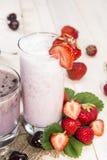 Fresh made Milkshakes Royalty Free Stock Photography