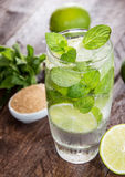 Fresh made Mojito with ingredients Royalty Free Stock Images