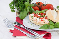Fresh made Mozzarella Creme on roll Royalty Free Stock Image