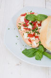 Fresh made Mozzarella Creme on roll Royalty Free Stock Photos
