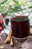 Fresh made mulled wine Stock Photos