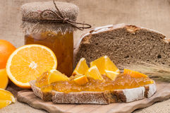 Fresh made Orange Jam Stock Photos
