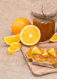 Fresh made Orange Jam Stock Images