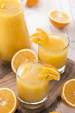Fresh made Orange Juice Royalty Free Stock Photography