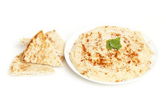 Fresh Made Organic Hummus Stock Photography
