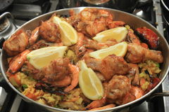 Fresh made paella Royalty Free Stock Photography