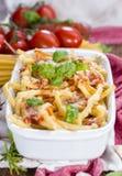 Fresh made Pasta Bake Royalty Free Stock Image