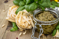 Fresh made Pesto Sauce Royalty Free Stock Image