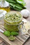 Fresh made Pesto Sauce Royalty Free Stock Image