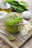 Fresh made Pesto Sauce Royalty Free Stock Photography