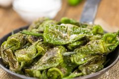Fresh made Pimientos de Padron Royalty Free Stock Images