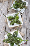 Fresh made Pimientos de Padron Stock Image