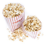 Fresh made Popcorn on white Royalty Free Stock Photography