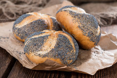 Fresh made Poppyseed Buns Royalty Free Stock Photography