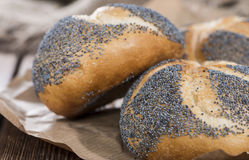 Fresh made Poppyseed Buns Stock Photography
