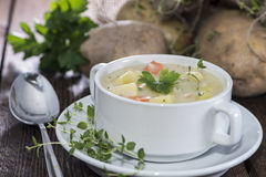 Fresh made Potatoe Soup Stock Photos