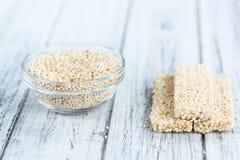 Fresh made Quinoa Bars Royalty Free Stock Image