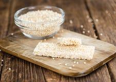 Fresh made Quinoa Bars Stock Photo