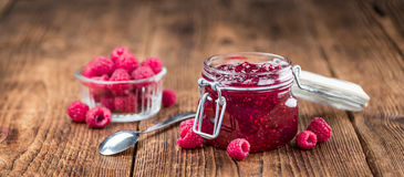 Fresh made Raspberry Jam Royalty Free Stock Photo
