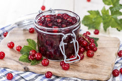 Fresh made Red Currant Jam Royalty Free Stock Photography