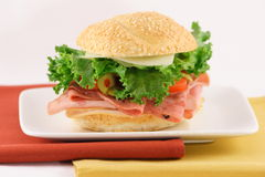 Fresh made sandwich. Perfect sandwich made with organic ingredients perfect and healthy Stock Images