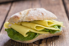 Fresh made Sandwich (with Cheese) Stock Images